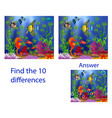 childrens visual puzzle find ten differences from vector image