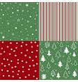 christmas pattern set and vector image vector image