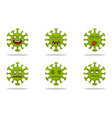 collection corona virus expression outbreaks vector image vector image