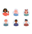 collection different people portraits vector image