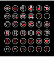 communication icons set 2 notext vector image