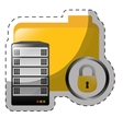 Data center storage icon image