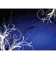 decorative winter background vector image vector image
