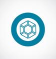 diamond icon bold blue circle border vector image