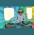 dj african boy party mix music vector image