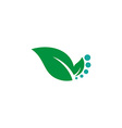 Eco icon green leaf vector image vector image