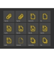 File Clip icons vector image vector image