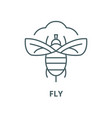 fly line icon linear concept outline sign vector image