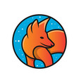 fox animal logo design vector image vector image