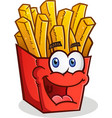 french fries cartoon character vector image vector image