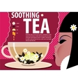 Girl Soothing tea vector image vector image