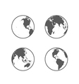 globe icon set vector image vector image