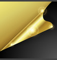 gold curved corner paper blank design template vector image vector image