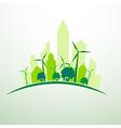 green city vector image vector image
