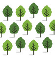 green trees seamless wallpaper vector image