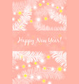 happy new year delicate elegant greeting card vector image