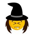 happy witch emoji icon vector image vector image