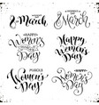 happy womens day phrases vector image vector image