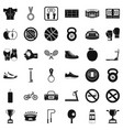 hard boxing icons set simple style vector image vector image