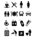 Hotel and restaurant icons set vector image vector image