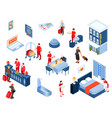 hotel color isometric set vector image vector image