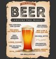 how to order a beer around the world vector image vector image