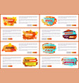 info labels with signs price reduction autumn fall vector image vector image