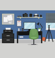 interior of modern teenager room vector image