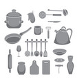 kitchen tools set kitchenware collection vector image