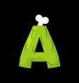 letter a zombie font monster alphabet bones vector image vector image