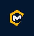 letter cm business creative logo design vector image vector image