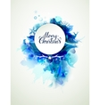 Merry Christmas inscription on the abstract winter vector image