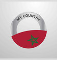 morocco my country flag badge vector image