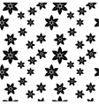 narcissus monochrome pattern vector image