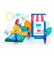 nfc technology mobile app atm and terminal vector image