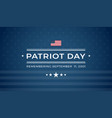 patriot day 911 blue background remembering vector image vector image