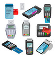 payment machine pos banking terminal for vector image