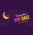 ramadan big sale design horizontal web banner vector image vector image