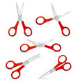 realistic detailed 3d scissors set vector image