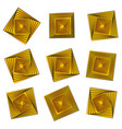 rotating golden squares design elements vector image vector image