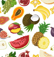 Seamless pattern with healthy fruits vector image