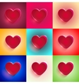 set Big Red Heart vector image vector image