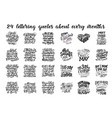 set of compositions for every months calendar vector image vector image
