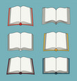 set open book icons isolated vector image vector image