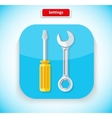 Setting App Icon Flat Style Design vector image