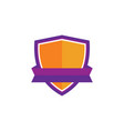 shield business technology logo vector image