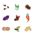 spices set of colored icons vector image vector image