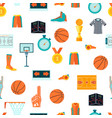 sports seamless pattern with basketball icons in vector image