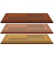 Three wooden boards vector image