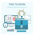 Time to work and process vector image vector image